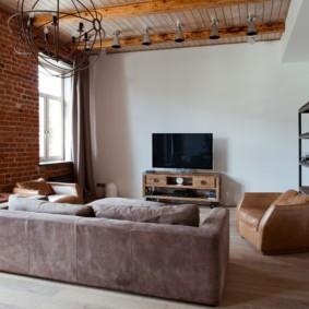 современная гостиная в квартире оформление фото