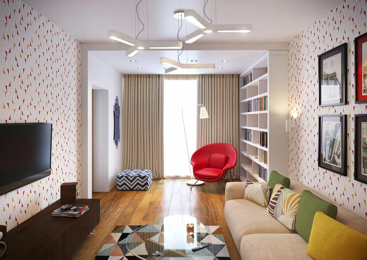 стильный дизайн трехкомнатной квартиры