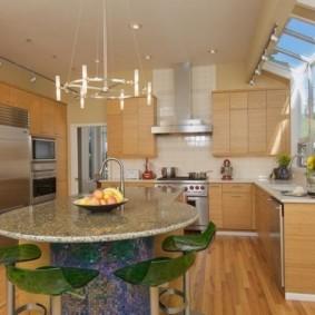 стол из искусственного камня на кухню дизайн идеи