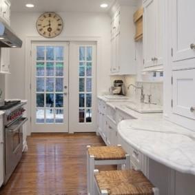стол из искусственного камня на кухню фото декор