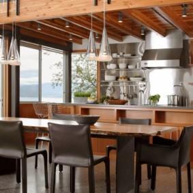 стол из искусственного камня на кухню идеи декор