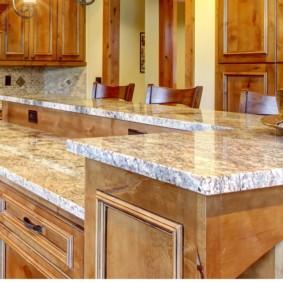 стол из искусственного камня на кухню идеи интерьер
