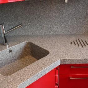 стол из искусственного камня на кухню фото оформление