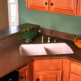 стол из искусственного камня на кухню идеи оформление