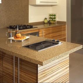 стол из искусственного камня на кухню варианты фото