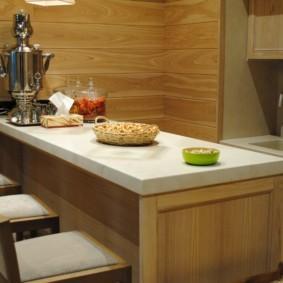стол из искусственного камня на кухню обзор
