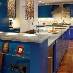стол из искусственного камня на кухню дизайн