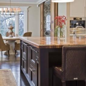 стол из искусственного камня на кухню дизайн фото