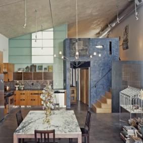 стол из искусственного камня на кухню фото дизайн