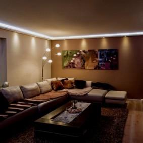 Светодиодная подсветка по периметру потолка