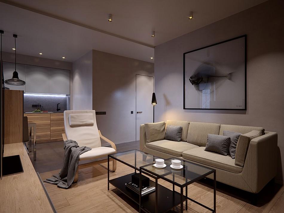 Освещение комнаты в современном стиле