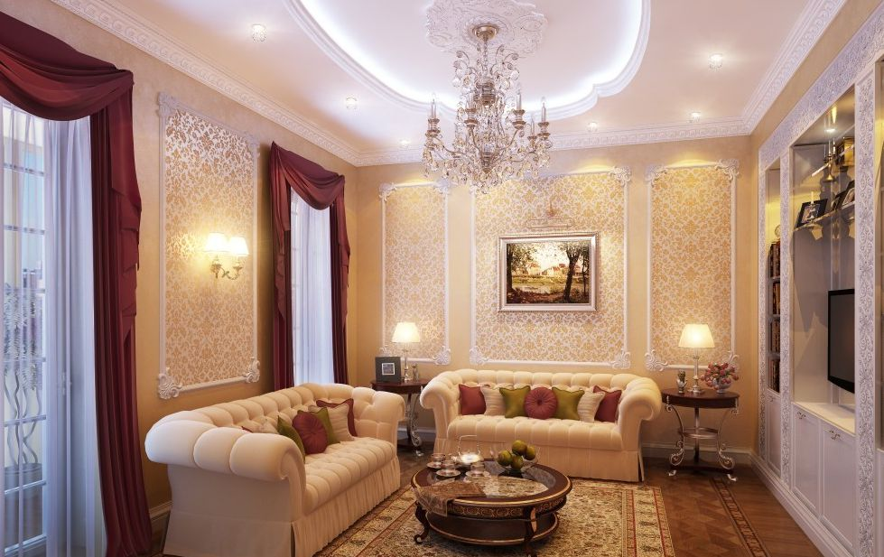 Освещения зала в классическом стиле