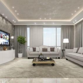 светильники для гостиной комнаты виды фото
