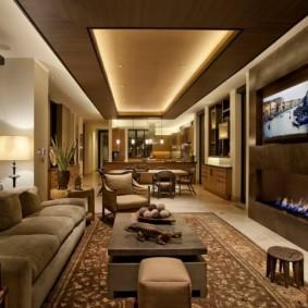 светильники для гостиной комнаты виды оформления