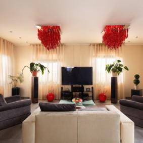 светильники для гостиной комнаты идеи