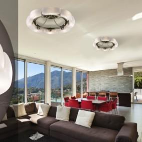 светильники для гостиной комнаты идеи варианты