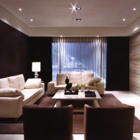 светильники для гостиной комнаты интерьер фото