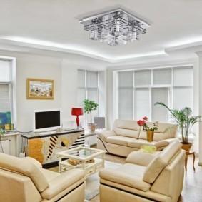 светильники для гостиной комнаты интерьер идеи
