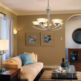 светильники для гостиной комнаты варианты фото