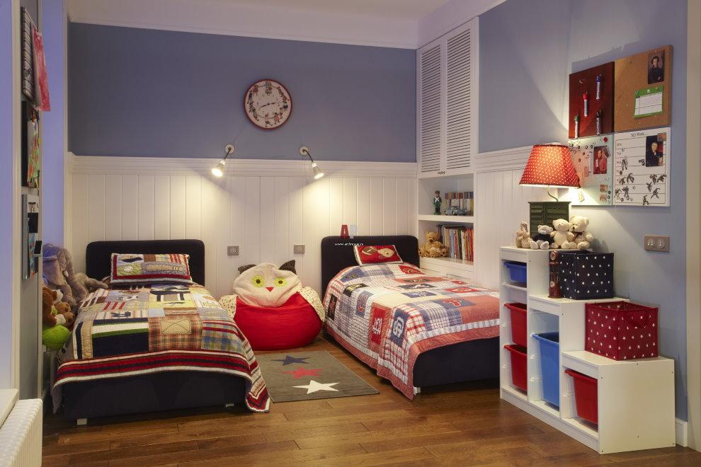 Освещение в комнате для двоих детей