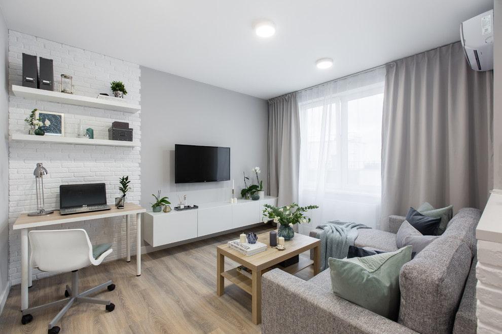 Светлая квартира-студия из однушки