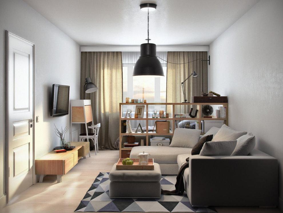 Общая комната в квартире панельного дома