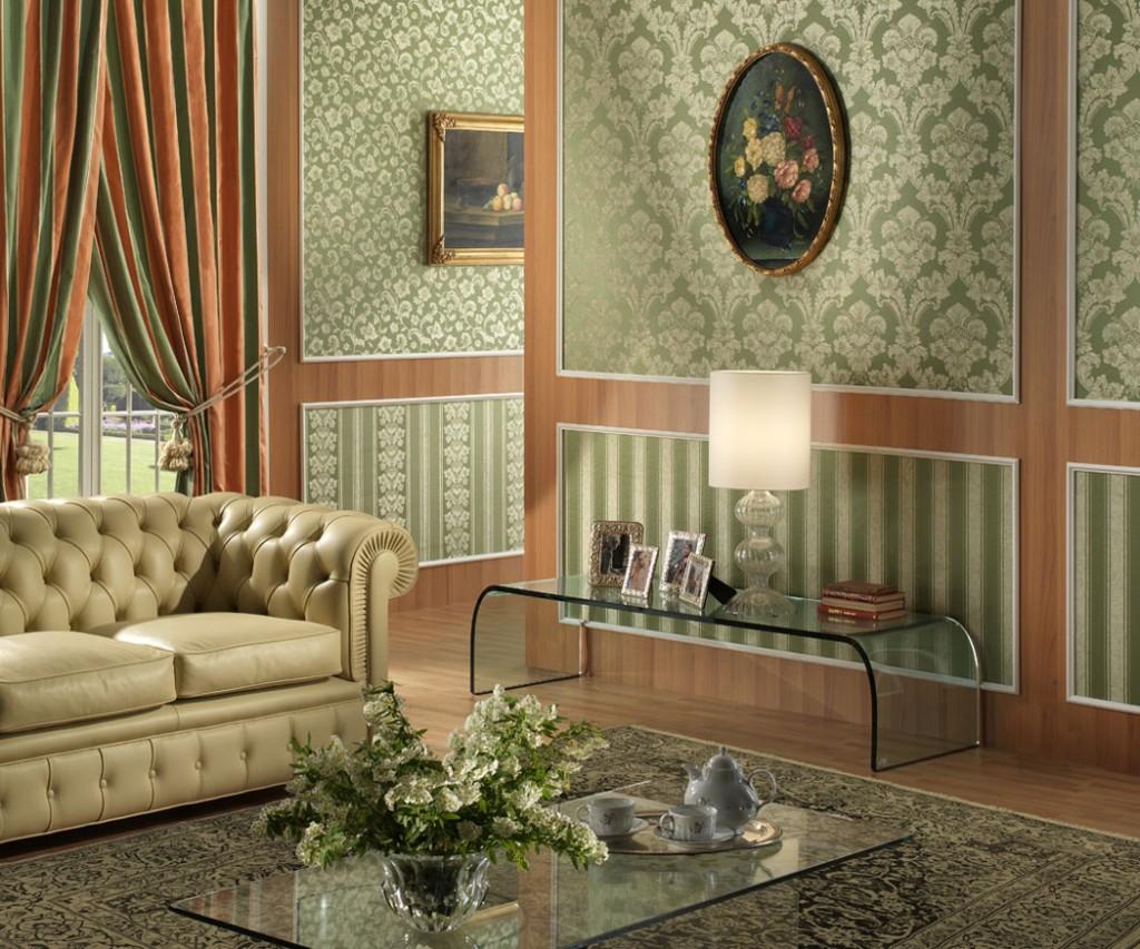 текстильные обои в гостиной идеи