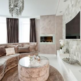 гостиная комната в светлых тонах виды оформления