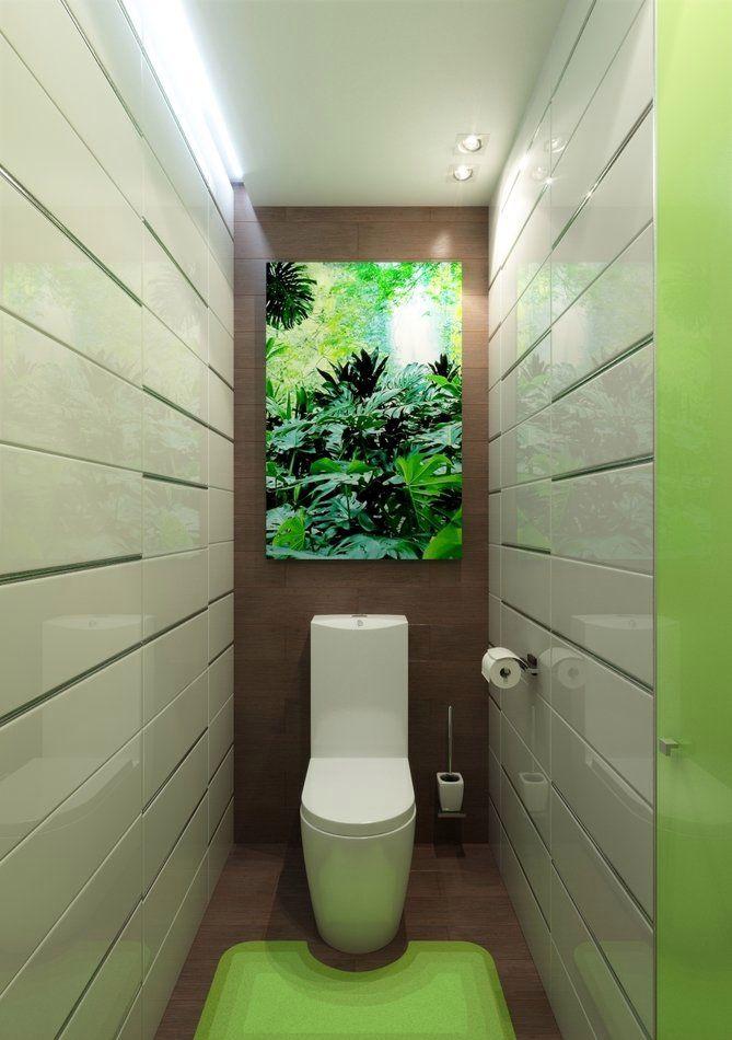 Подсветка потолка в туалете небольшого размера