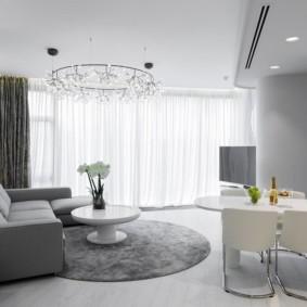 угловой диван в гостиной дизайн