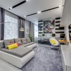 угловой диван в гостиной фото дизайн