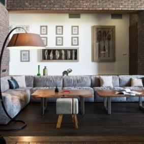 угловой диван в гостиной фото дизайна