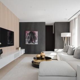 угловой диван в гостиной дизайн идеи