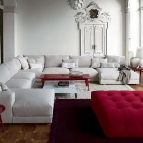 угловой диван в гостиной идеи дизайн