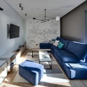 угловой диван в гостиной идеи дизайна