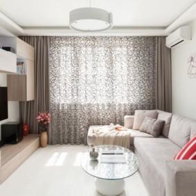 угловой диван в гостиной декор