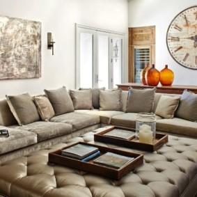 угловой диван в гостиной декор идеи