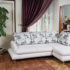угловой диван в гостиной идеи декор
