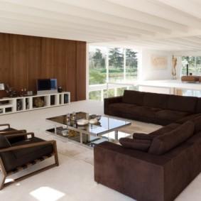 угловой диван в гостиной интерьер идеи