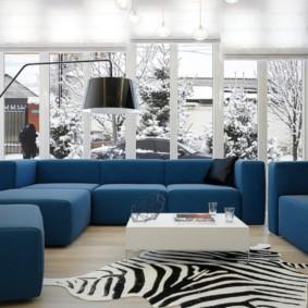 угловой диван в гостиной идеи интерьер