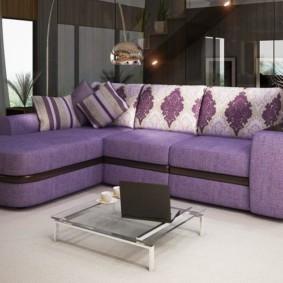 угловой диван в гостиной идеи интерьера