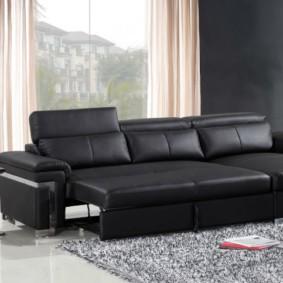 угловой диван в гостиной оформление