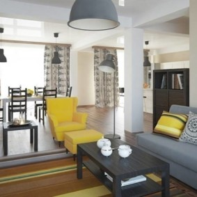 угловой диван в гостиной фото оформления