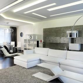 угловой диван в гостиной идеи оформление