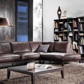угловой диван в гостиной варианты