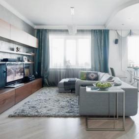 угловой диван в гостиной варианты фото