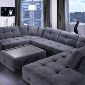 угловой диван в гостиной фото варианты