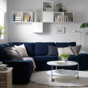 угловой диван в гостиной фото вариантов