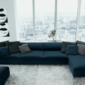 угловой диван в гостиной варианты идеи
