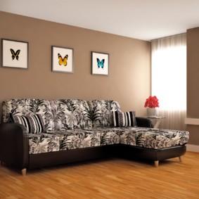 угловой диван в гостиной идеи варианты